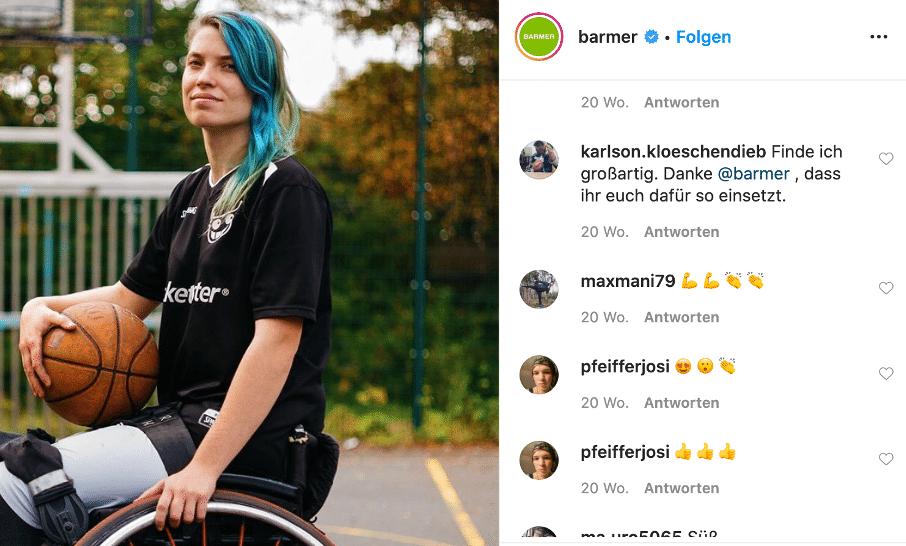 Kommentare zu Rollstuhlbasketballerin Ronja