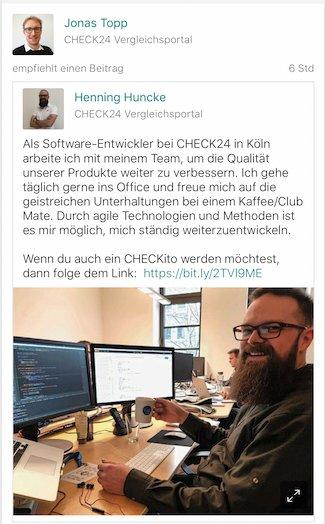 Check24 XIng Posting