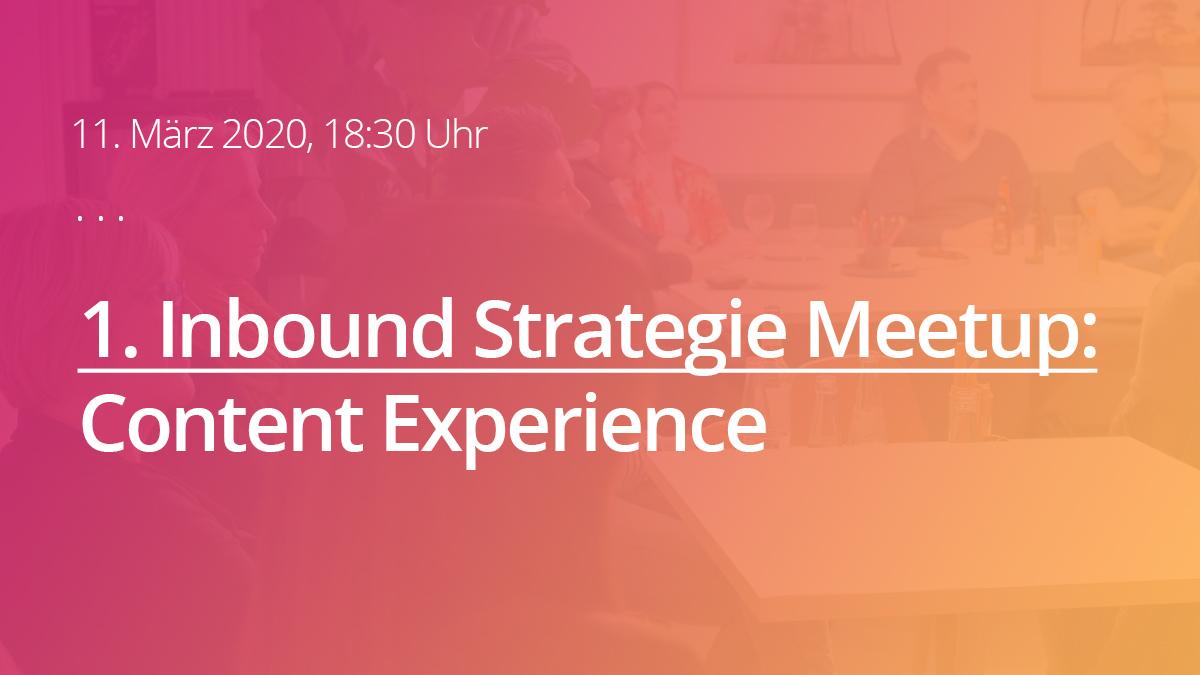 Inbound Strategie Meetup