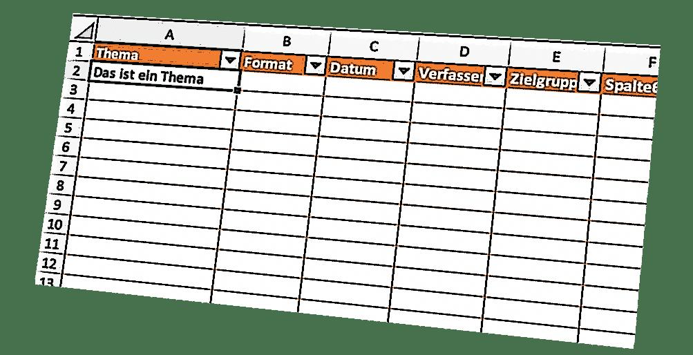 Redaktionsplan