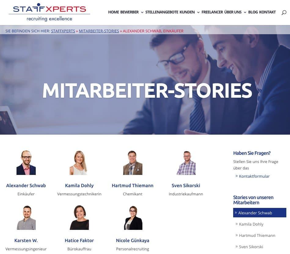 Staffxperts GmbH - Mitarbeiterstory